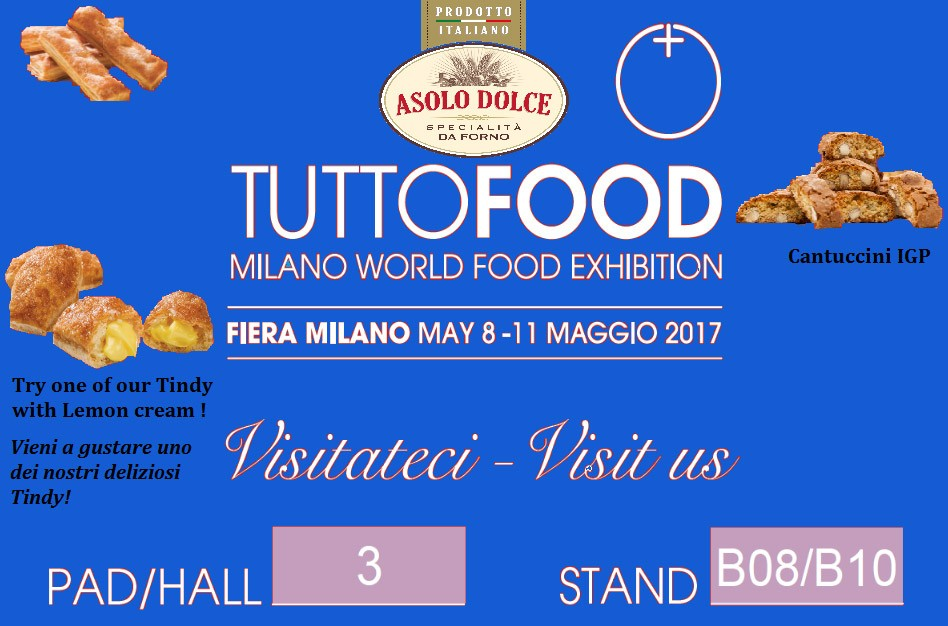 Asolo Dolce a TUTTOFOOD Milano world food exhibition.